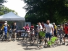 Départ de la ballade à vélo à travers Sceaux