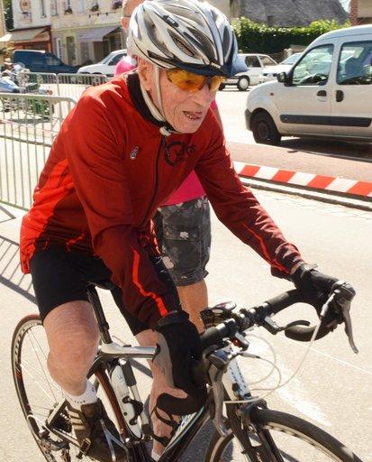 Robert Marchand en plein effort (crédits Paris Normandie)