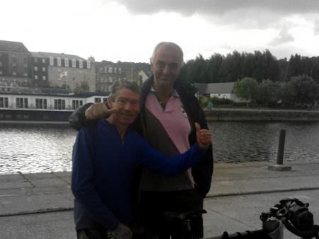 Gérard et Jean à Honfleur