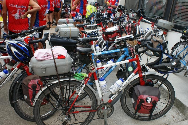Les vélos des participants